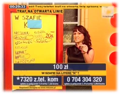 """Justyna Widawska w programie """"Rozwiąż Zagadkę"""""""